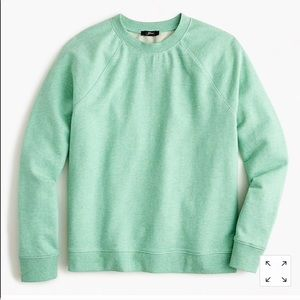 JCREW Speckled Mint Green Sweatshirt